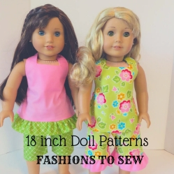 18 inch American Girl Doll Clothes patterns by Oh Sew Kat