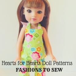 Hearts for Hearts Doll Clothes patterns by Oh Sew Kat!