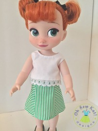 Make easy doll clothes for disney animators princess dolls with easy sewing patterns you print at home and sew up in an afternoon by Oh Sew Kat! #animators #dollclothes #sewingpatterns
