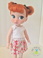 Find easy sewing patterns for Disney Animators princess dolls from Oh Sew kat! Quick to sew, PDF downloads , including a free skirt pattern. #ohsewkat #animators #sewingpatterns