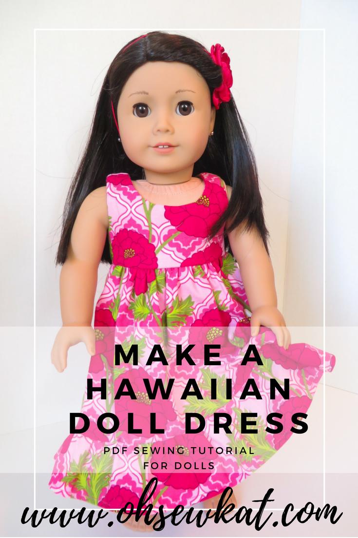 Hawaiian Doll Dress Tutorial by Oh Sew Kat! Sewing Patterns (3)