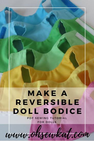Reversible doll bodice, lined bodice flip bodice tutorial