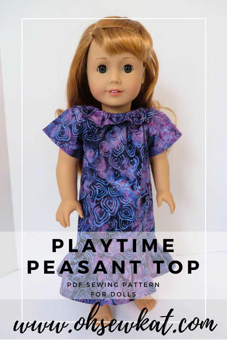 hawaiian dress for dolls tutorial by Oh Sew Kat!