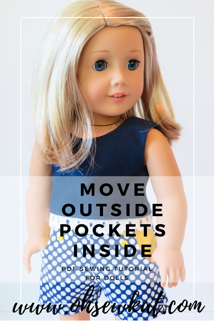 Step it Up Series: Sandbox Shorts- move the outside pockets to the inside by Oh Sew Kat!