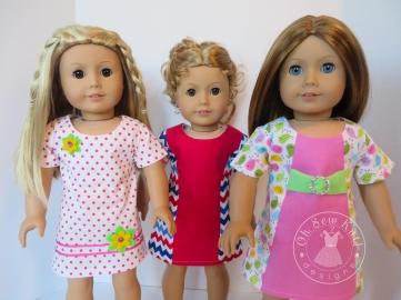 OSK oh sew kat sunshine dress doll pattern pdf