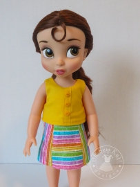Popsicle Top by Oh Sew Kat pdf doll sewing pattern animator