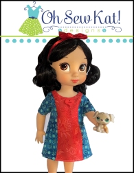 oh sew kat easy to sew doll dress pattern
