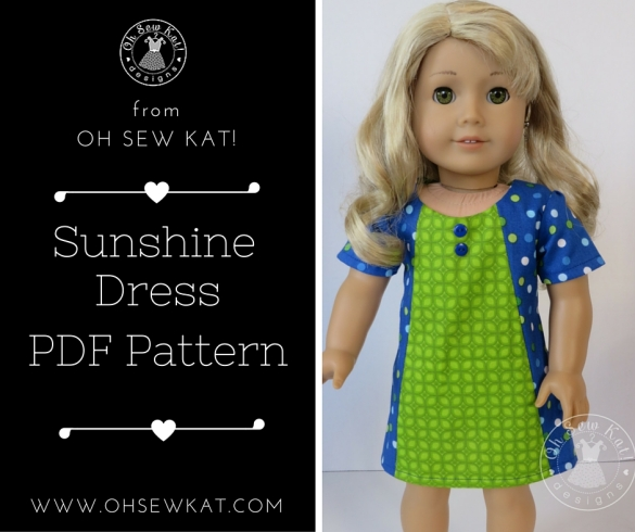 Doll clothes sewing patterns for american girl and welliewishers by oh sew kat