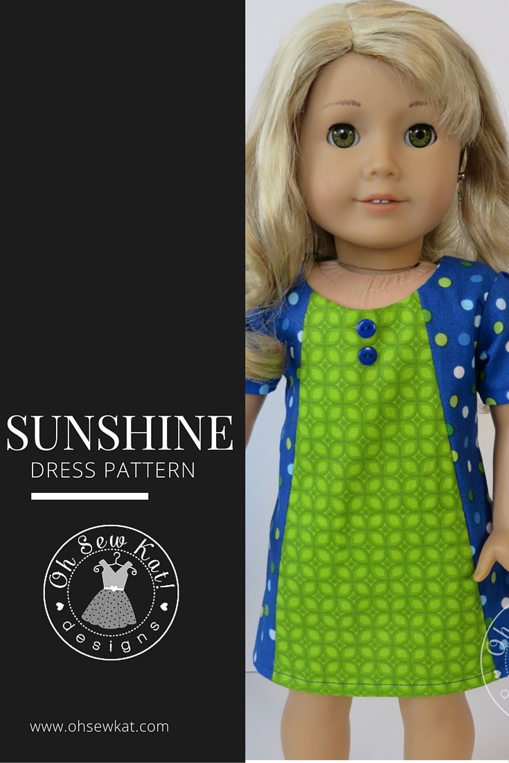 PDF Sewing patterns for 18 inch and animator dolls by Oh Sew Kat