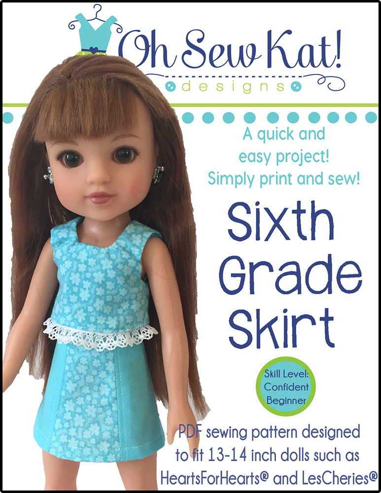Doll clothes sewing patterns OH Sew Kat welliewishers american girl animators