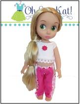 Easy animators doll clothes sewing pattern- Playground Pants by Oh Sew Kat! Digital PDF patterns for princess dolls. #princessdoll #pantspattern #ohsewkat #animators