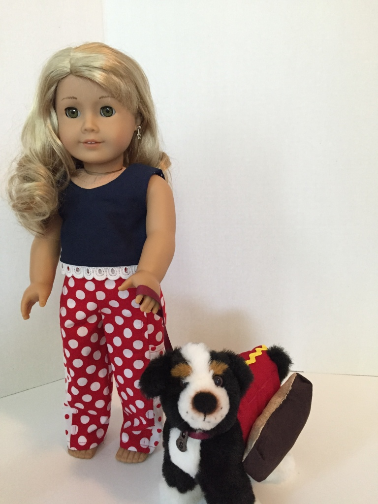 Popsicle Top and Playground Pants sewing patterns for 18 inch dolls like American Girl by Oh Sew kat!
