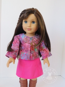 Make a top or blouse for your 18 inch doll with the easy and fast School Bell Blouse sewing pattern from Oh Sew Kat! Visit my blog to try a free skirt sewing pattern. #ohsewkat #18inchdollclothes #sewingpattern #easytosew