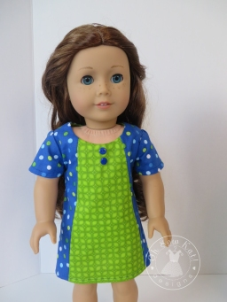 """Make mix and match 18"""" doll clothes with easy PDF sewing patterns by OH Sew Kat. #dollclothes #sewing #patterns #freeskirt"""