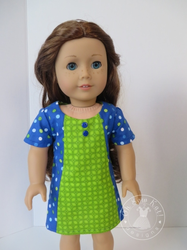 "Make mix and match 18"" doll clothes with easy PDF sewing patterns by OH Sew Kat. #dollclothes #sewing #patterns #freeskirt"