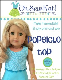 oh sew kat doll shirt pattern Popsicle top