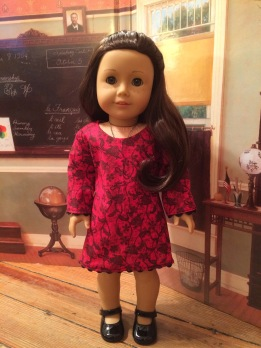 Oh sew Kat school dance dress for 18 inch American Girl dolls pdf doll clothes sewing pattern for doll dress