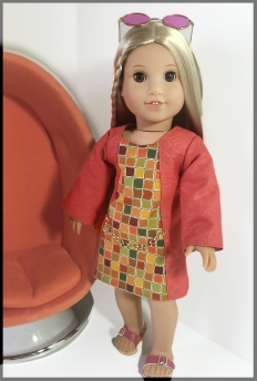 School Dance Doll dress sewing pattern for back to school outfits for your dolls. Easy beginner level pattern for 18 inch dolls like American Girl, Our Generation and more. Visit www.ohsewkat.com to try a free skirt pattern. #freesewingpattern #dollclothes #18inchdolls #ohsewkat