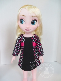 Oh sew Kat school dance dress for animator dolls pdf doll clothes sewing pattern for doll dress for Elsa