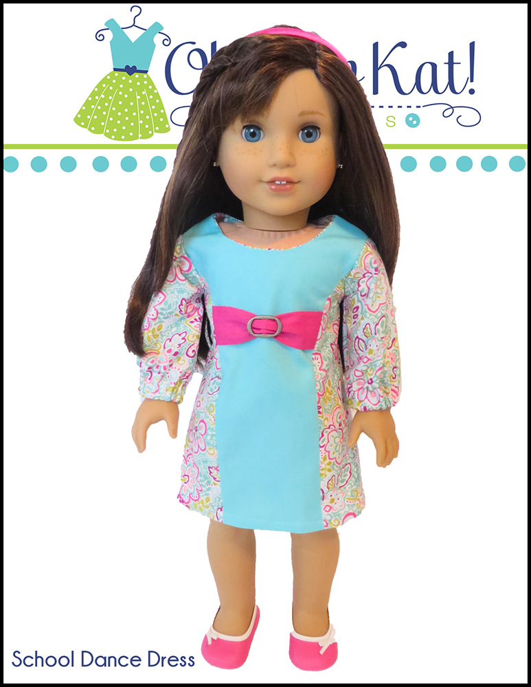 Oh Sew Kat! School Dance Dress PDF doll dress pattern