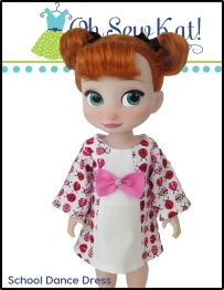 pdf sewing pattern for dolls animator school dance dress easy to sew from ohsewkat