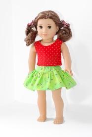 18onMain test Four Season Skirt for 18 inch doll 1