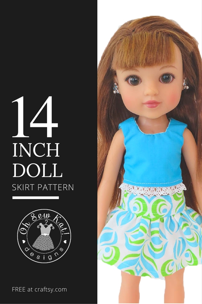 Easy Up Wellie Wishers Doll Clothes Sewing pattern for 14 inch doll like Wellie Wishers Reversible Jumper easy to sew PDF pattern dress