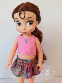 Oh Sew Kat doll skirt pattern Four Season Skirt animator