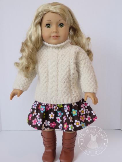 Oh Sew Kat doll skirt pattern Four Season Skirt ohsewkat