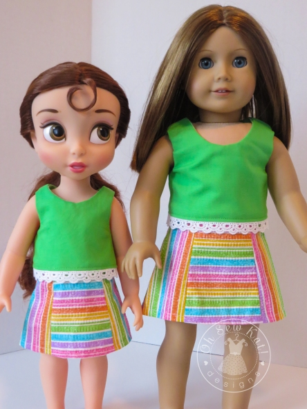 Oh Sew Kat Popsicle Top reversible doll shirt pattern