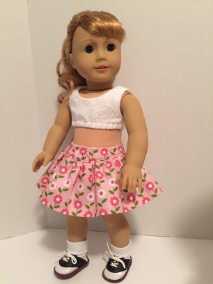 Oh Sew Kat doll skirt pattern Four Season Skirt
