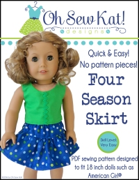 Free skirt pattern for dolls