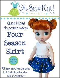 Free skirt pattern for Animator Dolls