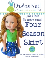 Wellie wishers sewing patterns free skirt by oh sew kat