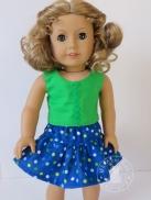 Oh Sew Kat doll skirt free pdf pattern Four Season Skirt