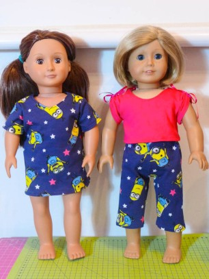 April Moon PJ Set by Oh Sew Kat doll pajama pattern
