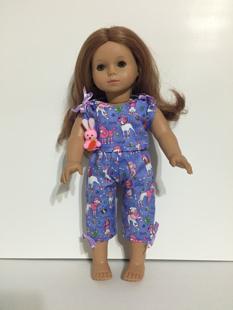 OhSewKat pajamas doll pattern PDF April Moon for dolls