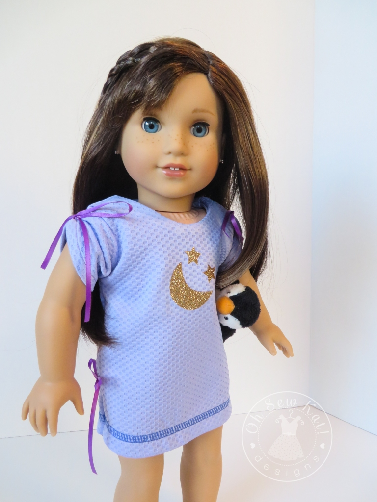 Oh Sew Kat pajama doll pattern PDF April Moon for dolls