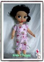 Animator pajamas pattern shirt and pants by Oh Sew Kat! April Moon PJ Set