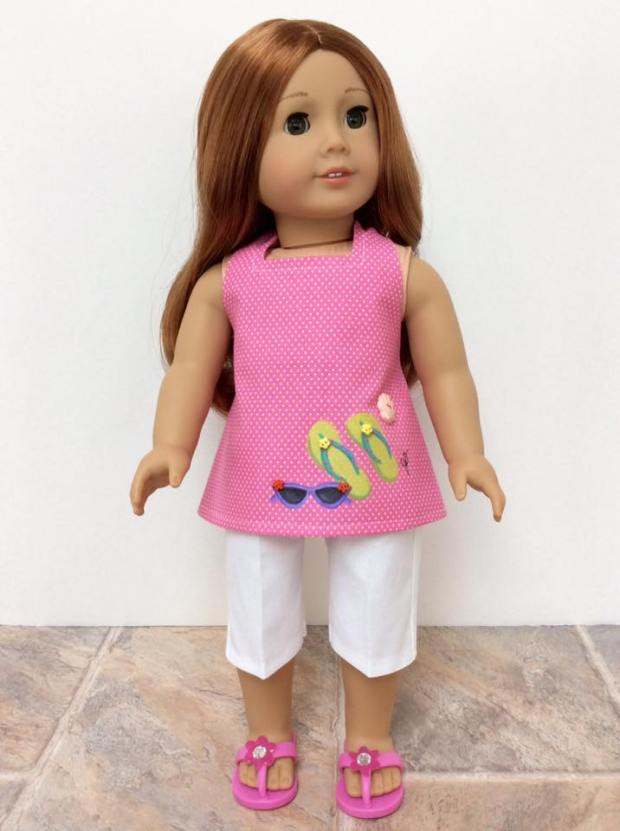 Easy sewing pattern for beginners to make doll clothes for 18 inch dolls by oH Sew Kat. #pdfpattern #sewingpattern #ohsewkat