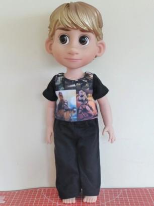 Animator pajamas pattern shirt and pants by Oh Sew Kat! April Moon PJ Set boy clothes