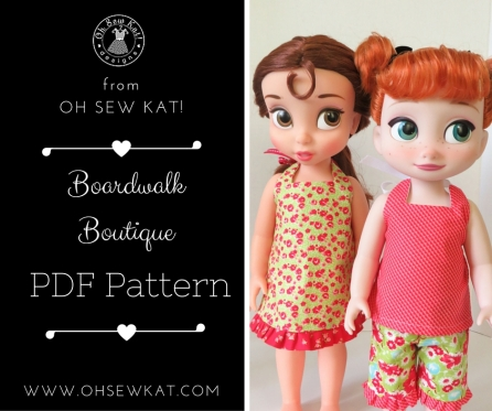 Animator doll sewing pattern by Oh Sew Kat!