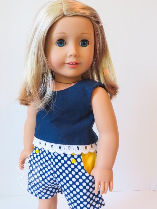 Oh Sew Kat sewing patterns for American Girl dolls sandbox shorts