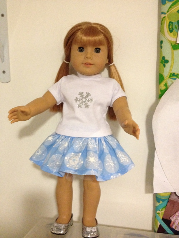 Four Season skirt doll pattern by oh sew kat