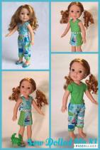 Make wellie wishers doll clothes with easy sewing patterns by oh sew kat! #ohsewkat #dollclothes #welliewishers #sewingpattern