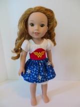 Wonder woman doll dress sewing pattern sugar n spice