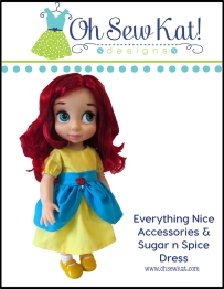 Animators doll clothes patterns dress up costumes by oh sew kat #18inch dolls #welliewishers #animators