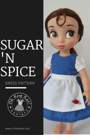 Animators doll clothes patterns dress up costumes by oh sew kat #18inch dolls #welliewishers #animators belle