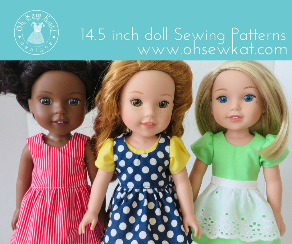 Sewing patterns for wellie wishers and 18 inch American Girl dolls