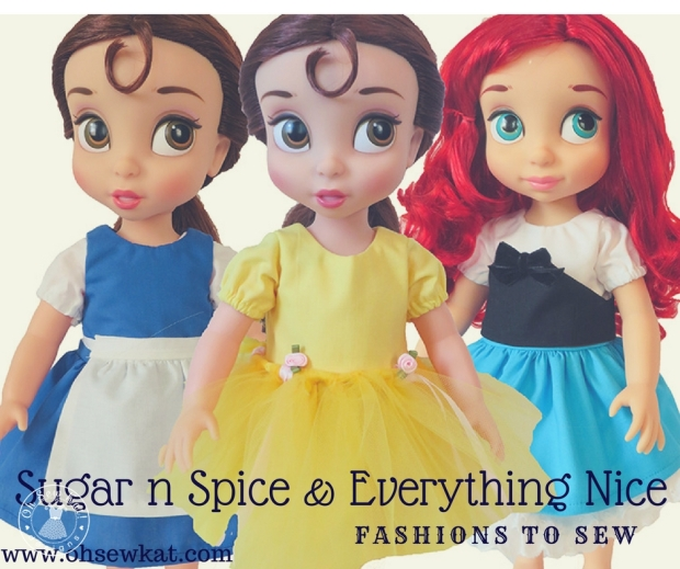 Oh Sew Kat doll clothes sewing patterns for dolls #americangirl #welliewishers #animators
